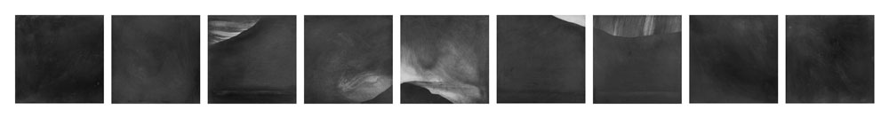 "Ararat, Graphite on Panel, nine 8"" x 8"" panels (overall dimensions variable), 2007"