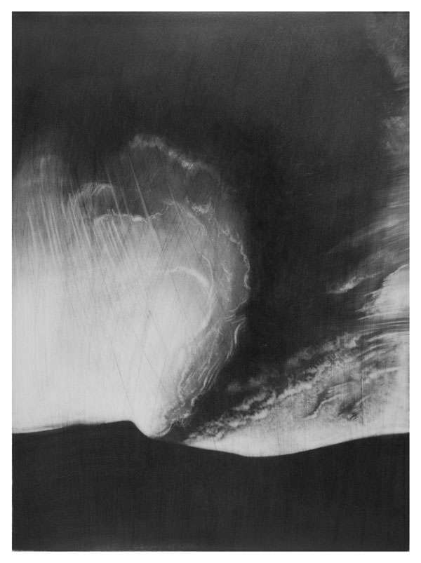 "Unnamed Landscape #5, Graphite on Drafting Film, 12 ¼ ""x 9"", 2007"